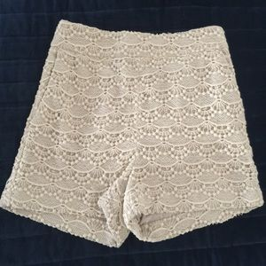 Ralph Lauren High Waisted Double lined Lace shorts